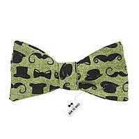 Галстук-бабочка Bow Tie House зеленая Barber Shop - Американский хлопок 08703
