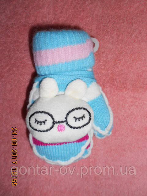 Дитячі махрові рукавиці