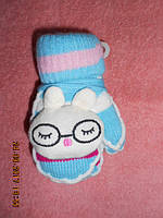 Детские махровые рукавицы