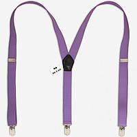 Подтяжки Bow Tie House лиловые длинные 2,5 см 08813