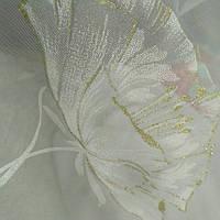 Шифон белый золотые маки, фото 1