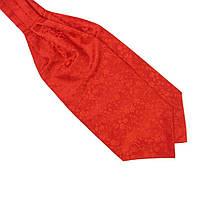 Шейный Bow Tie House платок Аскот красный однотонный с узором 08924