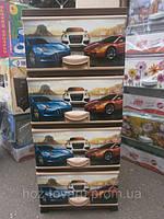 Комод пластиковый с декором цветной Машины 4 отделений Турция