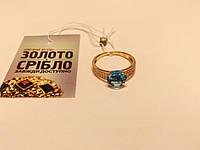 Кольцо золотое женское с красивым камнем. Вес 2,17 гр. Размер 17.