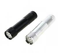 Фонарик ручной 009G 8+1, фонарик в металлическом корпусе, фонарик с лазером