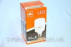 Высокомощная LED лампа 40W 6400K E27 220V, фото 2