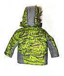 """Зимний костюм для мальчика """"Спорт"""" зеленый. Размеры 1-2-3-4 года. Оптом, фото 5"""