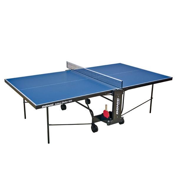 Теннисный стол для помещений синий Donic Indoor Roller 600 для дома и спортзала