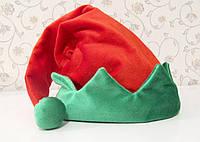 Новогодняя Шапка Велюр Взрослая Гнома Эльфа Деда Мороза Колпак Санта Клауса Santa Claus , фото 1