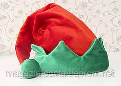 Новорічна Шапка Велюр Доросла Гнома Ельфа Діда Мороза Ковпак Санта Клауса Santa Claus