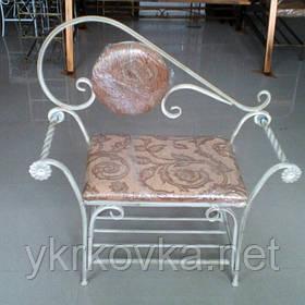 Кованый диван 95 см бежевый прованс