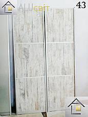 Межкомнатные раздвижные (перегородки) двери купе, ДСП, стекло сатин, фото 3