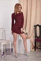 Женское трикотажное платье с длинными рукавами 0104/01, фото 1