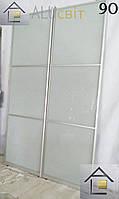 Межкомнатные раздвижные (перегородки) двери купе, ДСП, стекло сатин