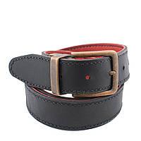 Ремень Bow Tie House кожаный двухсторонний красный и черный толщина 4 мм 09279