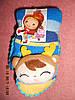 Варежки детские на махре с 3 Д игрушкой