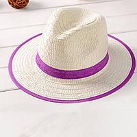 Шляпа Bow Tie House детская федора фиолетовая  09327