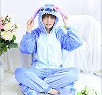 Пижама кигуруми женская. Жіноча піжама | Стич синий