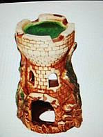 Декорации для аквариума Керамика Башня малая 7*12