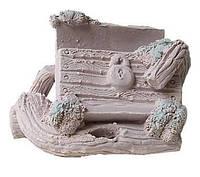 Декорации для аквариума Керамика Маленькая коряжка с сундучком  16*8см