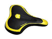 """Велосипедное седло """"Черно-желтое"""" с ручкой 190х260мм"""