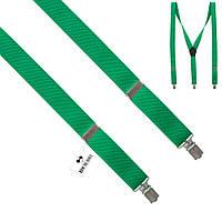 Подтяжки Bow Tie House травяные однотонные 2.5 см Y-образные 09531