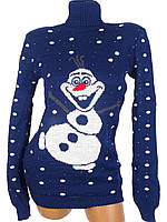 Зимний свитер со снеговиком (в расцветках)