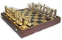 Шахматы Manopoulos Греческая мифология в деревянном футляре 54х54 см