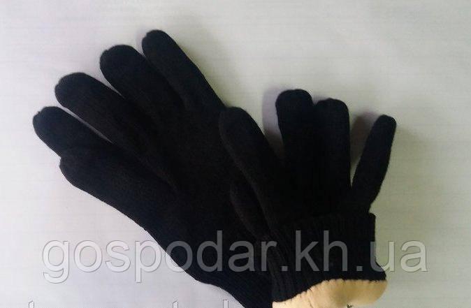 Рукавички чорні в'язані на флісі 3М Thinsulate, Польща.