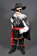 Детский костюм Зорро 5 -11 лет. Новогодний карнавальный маскарадный костюм для мальчиков 110-152 см