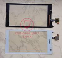 Sony Xperia C S39h C2304 C2305 сенсорний екран, тачскрін білий