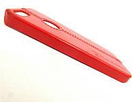 Чехол на IPhone 5/5s Кожа красный