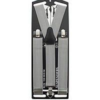 Подтяжки Bow Tie House мужские длинные галстучные серебристые 3.5 см Y 05399L