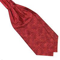Шейный Bow Tie House платок красный в турецких огурцах 09728