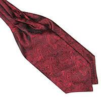Шейный Bow Tie House платок темно-красный в турецких огурцах 09729