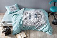 Подростковое постельное белье  Tac teen Rout V 04 синий