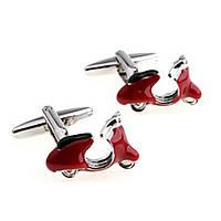 Запонки Bow Tie House красный скутер 09756