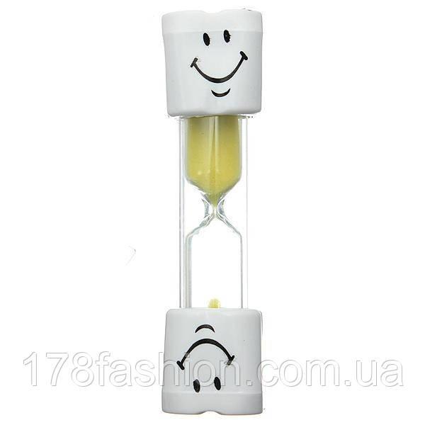 Детский таймер песочные часы для контроля времени чистки зубов на 3 минуты, желтые