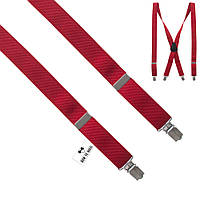Подтяжки Bow Tie House красные длинные 2.5Х см 09528L