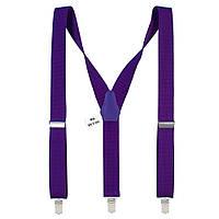 Подтяжки Bow Tie House длинные мужские фиолетовые 3.5 см Y 08129L