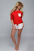 Пижама женская из испанского текстиля Sensis Red Penguin