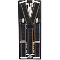 Подтяжки Bow Tie House длинные мужские галстучные коричневые в точку 3.5 см Y 05405L