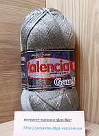 Зимняя пряжа (12%- шерсть ламы, 88%- премиум акрил, 100 г/ 230 м) Valencia Gaudi 26369 (серебристо-серый)