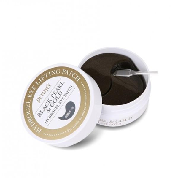 Гидрогелевые патчи для глаз с чёрным жемчугом и золотом Petitfee Black Pearl & Gold Hydrogel Eye Patch