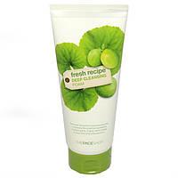 Очищающая пенка с экстрактами зеленых растений The Face Shop Fresh recipe Deep cleansing foam, оригинал