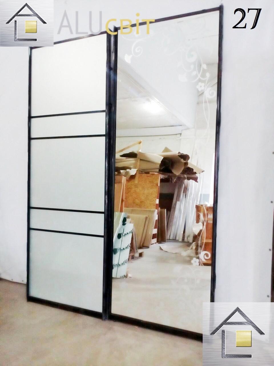Межкомнатные раздвижные двери купе в гардеробные (перегородки)