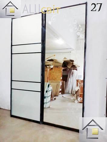Межкомнатные раздвижные двери купе в гардеробные (перегородки), фото 2