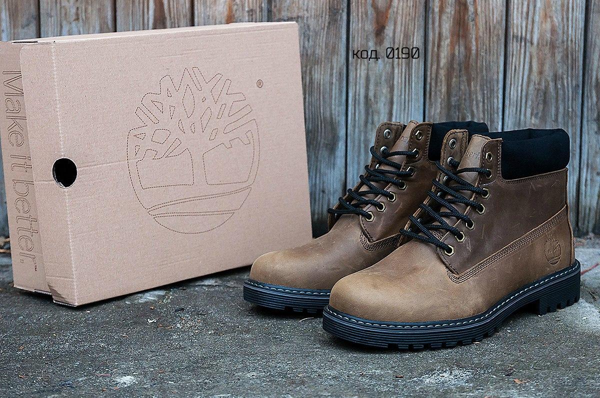 Мужские зимние ботинки  Timberland Brown