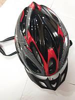 Шлем  черный с красным