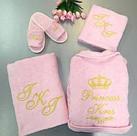 Женский махровый набор для бани «Принцесса Крис»